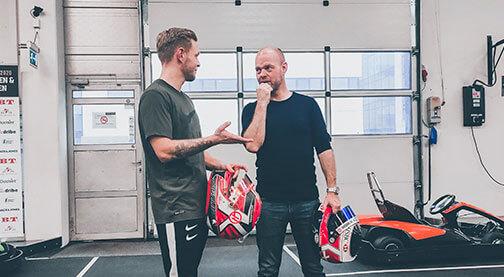 Kevin Magnussen og Jan Magnussen på besøg